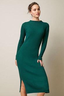 Emerge High Neck Knit Dress - 257164