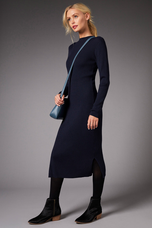 Emerge High Neck Knit Dress