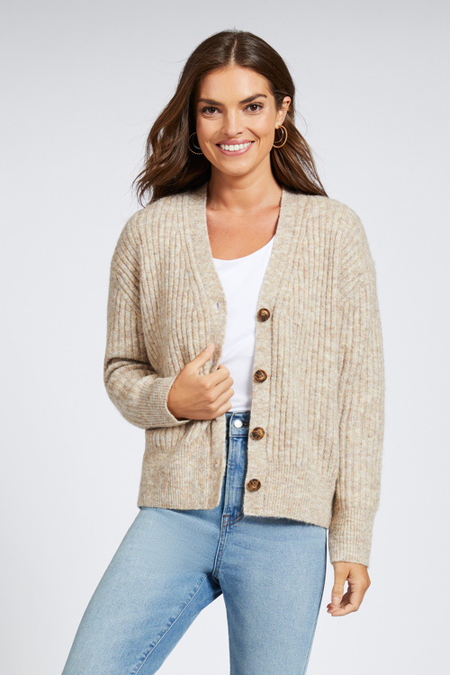 Emerge Cosy Ribbed Cardigan