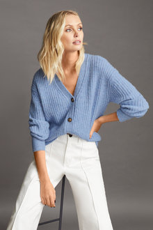 Emerge Cosy Ribbed Cardigan - 257167