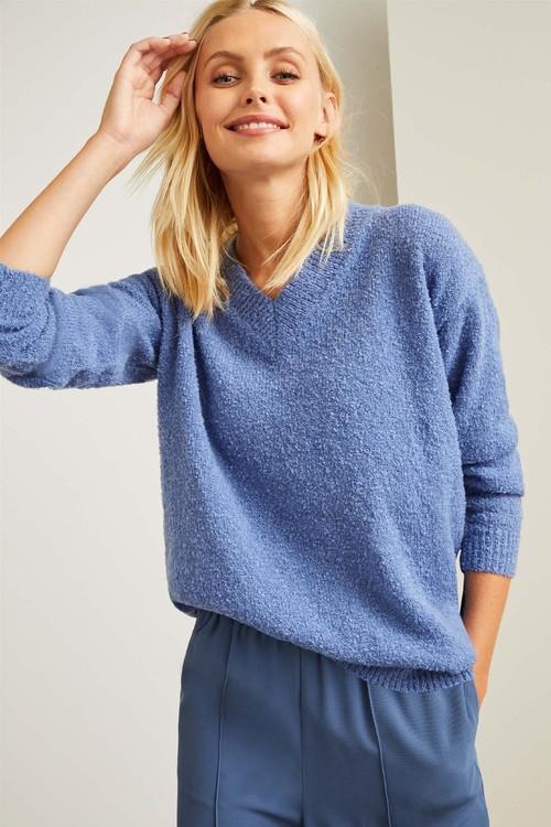 Emerge Boucle V Neck Sweater