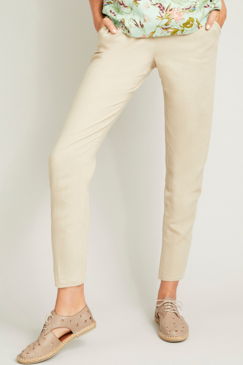 Capture Linen Blend Pull on Pant