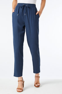 Capture Linen Blend Pull on Pant - 257174