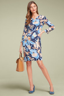 Capture Printed Shift Dress - 257186