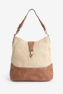 Next Buckle Detail Hobo Bag - 257203