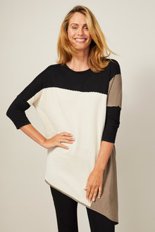 Capture Asymmetrc Colourblock Sweater - 257208