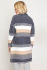 Capture Stripped Cardi Coat