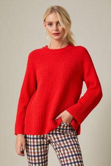 Emerge Lambswool Rib Sweater - 257217
