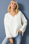 Emerge Sherpa Fleece V Neck