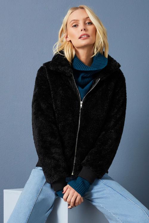 Emerge Sherpa Fleece Bomber Jacket