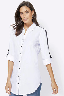 Euro Edit Tape Detail Shirt - 257259