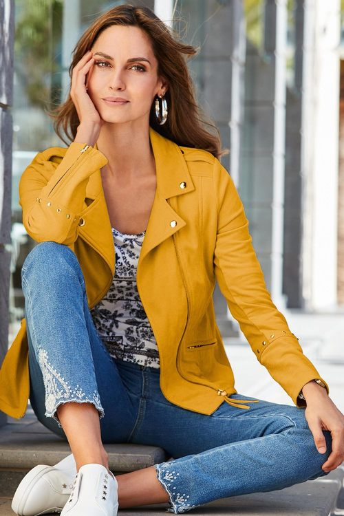 European Collection Suedette Jacket