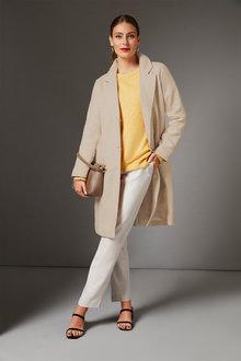 Grace Hill Linen Blend Coat - 257267