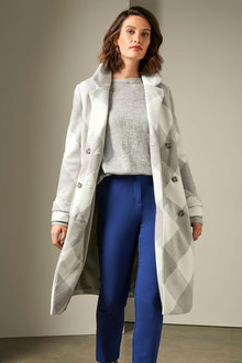 Grace Hill Wool Blend Coat - 257268