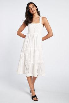 Next Broderie Midi Dress - 257272