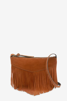 Next Suede Fringing Across Body Bag - 257300