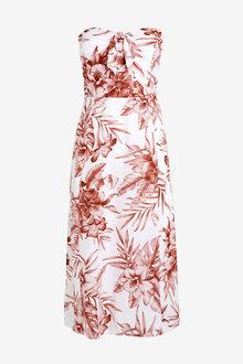 Next Floral Tie Front Dress - 257324