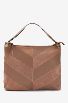 Next Leather Splice Hobo Bag - 257333