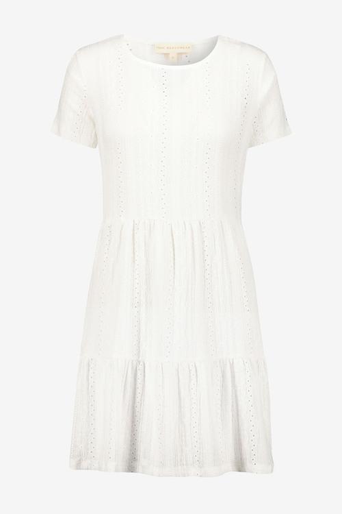 Next Broderie Short Sleeve T-Shirt Dress