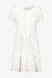 Next Broderie Short Sleeve T-Shirt Dress - 257472
