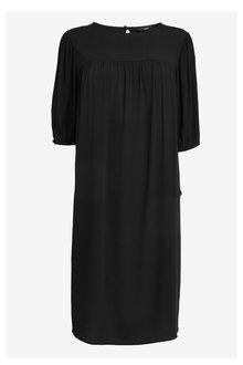 Next Puff Sleeve Gathered Yoke Dress - 257484