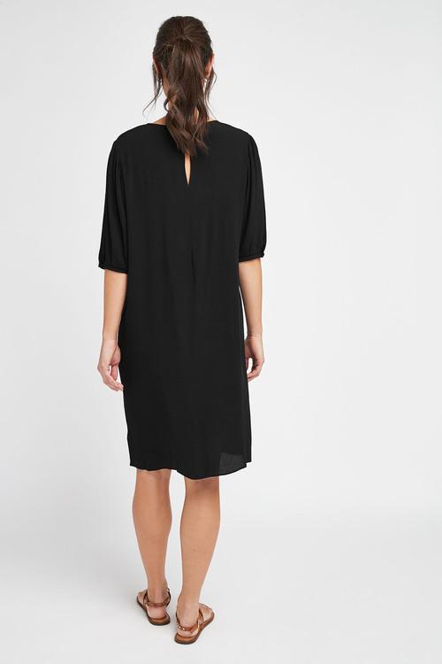 Next Puff Sleeve Gathered Yoke Dress-Tall