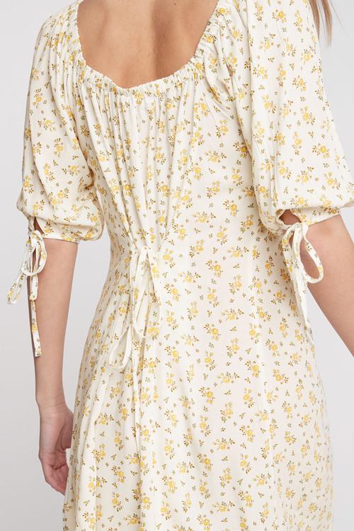 Next Tie Sleeve Button Front Dress