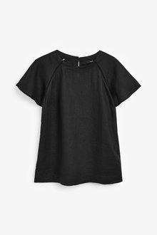 Next Short Sleeve Linen Top-Tall - 257507