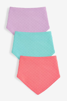 Next 3 Pack Pointelle Gathered Bibs - 257528