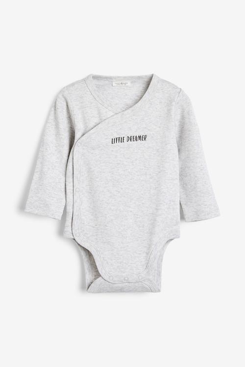 Next 2 Pack GOTs Organic Wrap-Over Bodysuit (0-12mths)