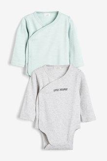 Next 2 Pack GOTs Organic Wrap-Over Bodysuit (0-12mths) - 257535