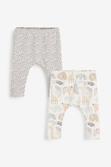 Next 2 Pack GOTs Organic Stretch Leggings (0-12mths) - 257536