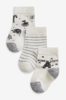 Next 3 Pack Born in 2020 Socks (Newborn) - 257539