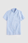 Next Linen Blend Short Sleeve Shirt