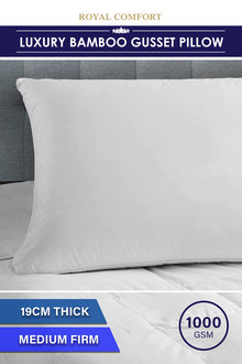 Royal Comfort Luxury Bamboo Gusset Pillow - 257552