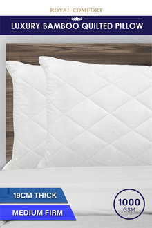 Royal Comfort Luxury Bamboo Quilted Pillow - 257554