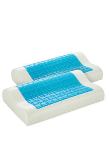 Royal Comfort Gel Memory Foam Contour Pillow Twin Pack - 257562
