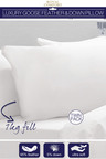 Royal Comfort 1000gsm Goose Feather & Down Pillow Twin Pack