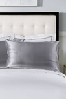 Royal Comfort Charcoal 100% Dual-Sided Pure Silk Pillowcase