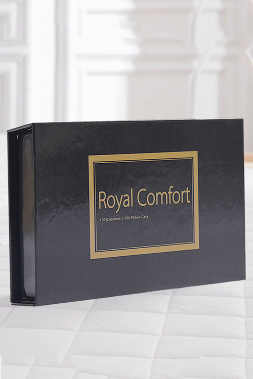 Royal Comfort White 100% Dual-Sided Pure Silk Pillowcase