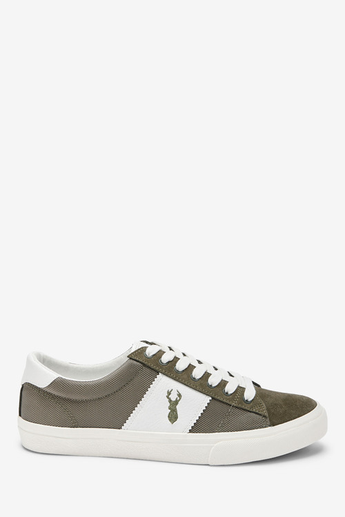 Next Suede Side Stripe Trainers