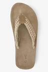 Next Suede Fray Flip Flops