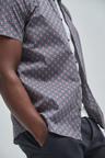 Next Slim Fit Geo Print Shirt