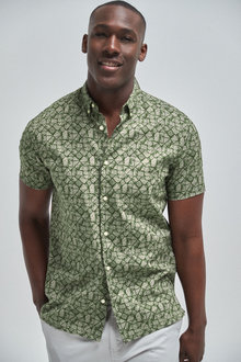Next Short Sleeve Geo Shirt - 257587