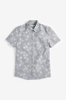 Next Floral Print Shirt-Slim Fit - 257589