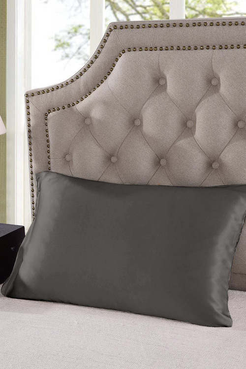Royal Comfort Charcoal Silk Pillowcase Twin Pack