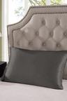 Royal Comfort Charcoal Silk Pillowcase Twin Pack