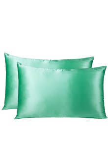 Royal Comfort Mint Silk Pillowcase Twin Pack - 257597