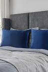Royal Comfort Navy Silk Pillowcase Twin Pack