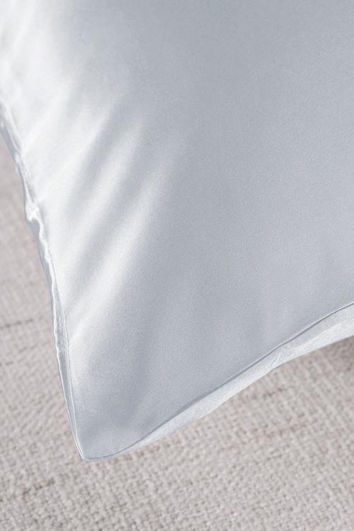 Royal Comfort Silver Silk Pillowcase Twin Pack